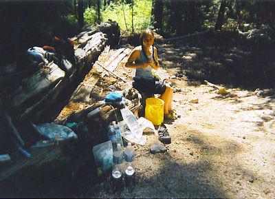 Jen at Campsite