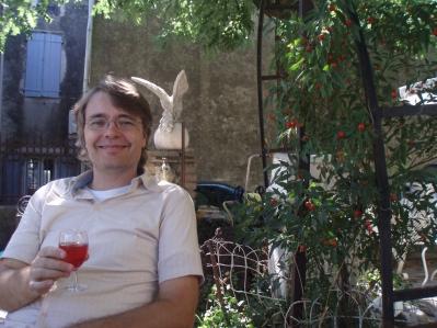 tim drinking rose'
